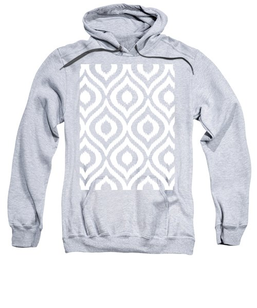 Circle And Oval Ikat In White N03-p0100 Sweatshirt