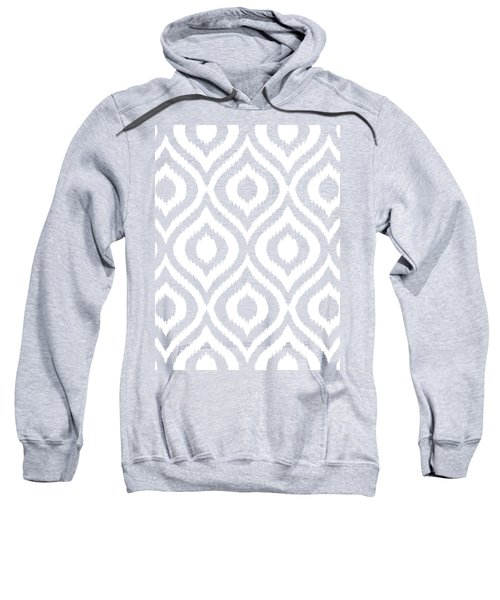 Circle And Oval Ikat In White T03-p0100 Sweatshirt