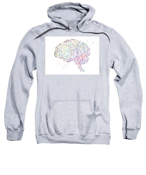 Circuit Board Brain 5 Sweatshirt