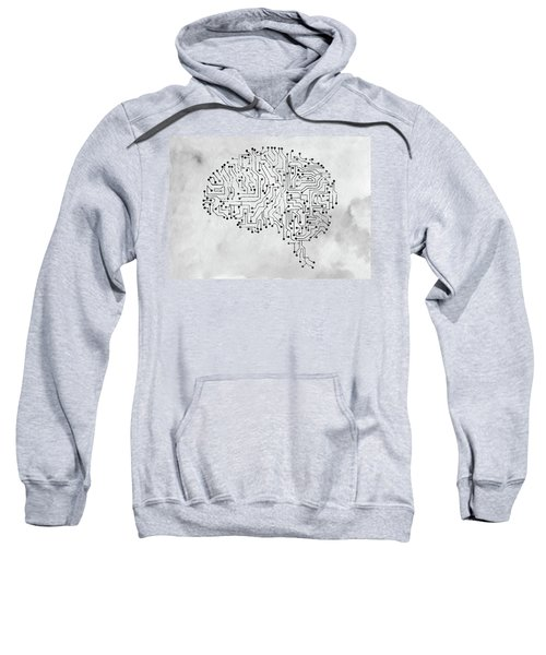 Circuit Board Brain X Sweatshirt
