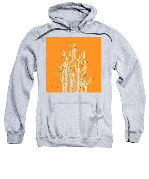 Circuit Board Graphic Sweatshirt
