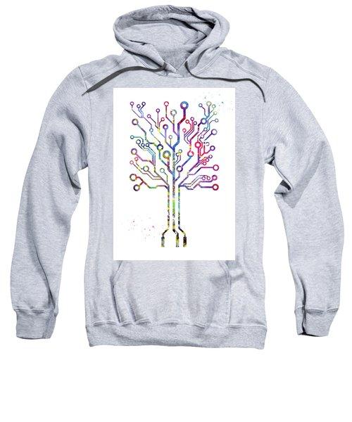 Circuit Board Tree 2 Sweatshirt