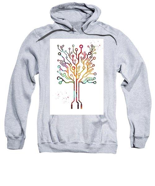 Circuit Board Tree Sweatshirt