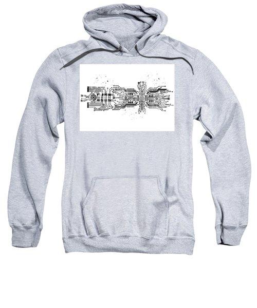 Circuit Board With Brain 3 Sweatshirt