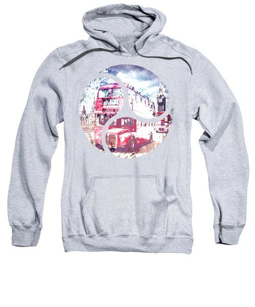 City-art London Red Buses On Westminster Bridge Sweatshirt