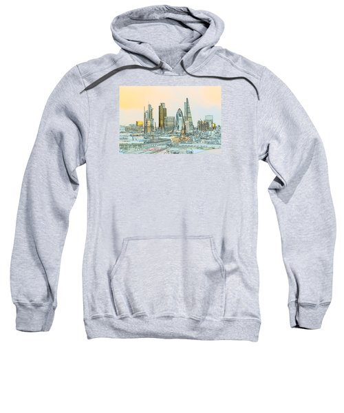 City Of London Outline Poster  Sweatshirt