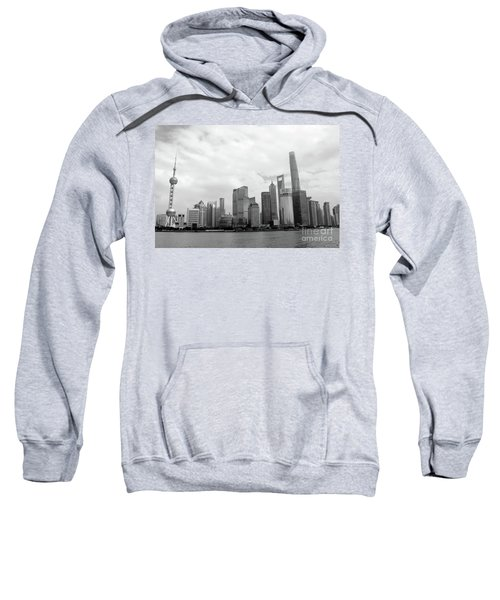 Sweatshirt featuring the photograph City Skyline by MGL Meiklejohn Graphics Licensing