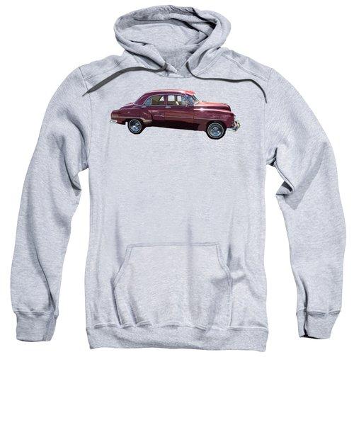 Classic Car Art In Red Sweatshirt
