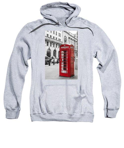 Red Telephone Box In London England Sweatshirt
