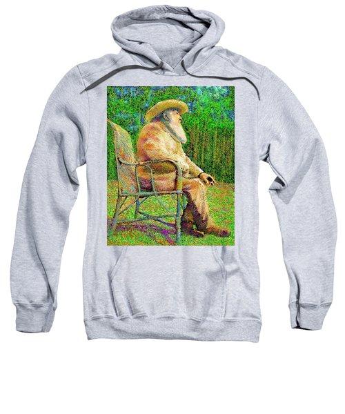 Claude Monet In His Garden Sweatshirt