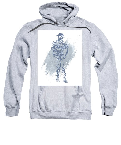 Clayton Kershaw Los Angeles Dodgers Water Color Art 2 Sweatshirt