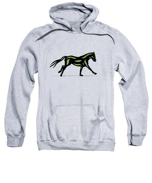 Clementine - Pop Art Horse - Black, Geenery, Hazelnut Sweatshirt