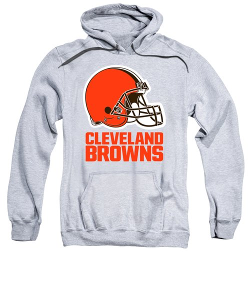 Cleveland Browns On An Abraded Steel Texture Sweatshirt