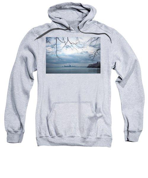 Cleveland Skyline With A Vintage Lens Sweatshirt
