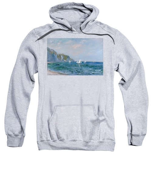 Cliffs And Sailboats At Pourville  Sweatshirt