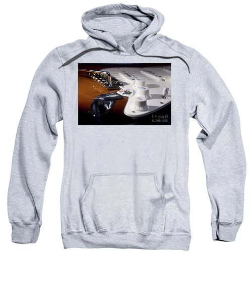 Sweatshirt featuring the photograph Close Up Guitar by MGL Meiklejohn Graphics Licensing