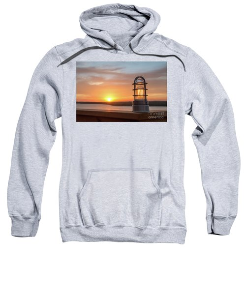 Closeup Of Light With Sunset In The Background Sweatshirt