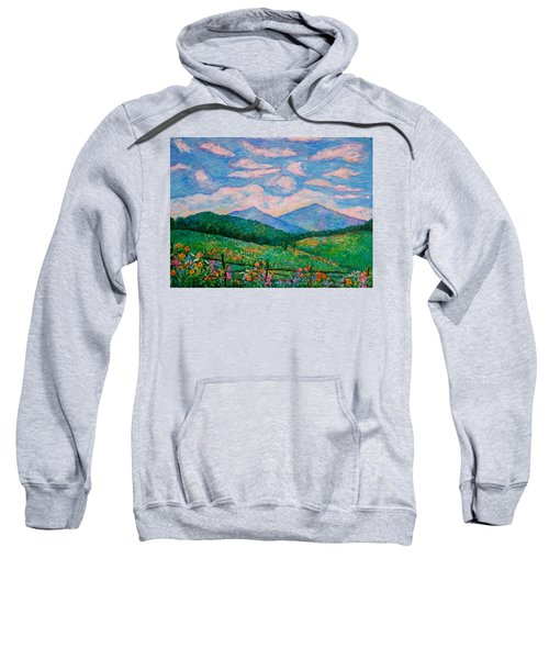 Cloud Swirl Over The Peaks Of Otter Sweatshirt