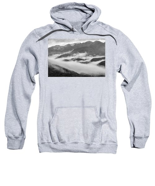 Sweatshirt featuring the photograph Clouds In Valley, Sa Pa, 2014 by Hitendra SINKAR