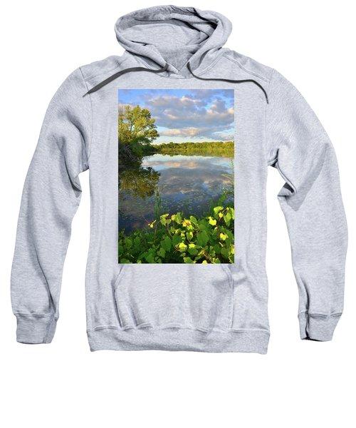 Clouds Mirrored In Snug Harbor Sweatshirt