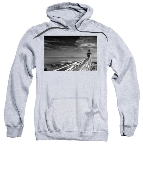 Clouds Over Marshall Point Lighthouse In Maine Sweatshirt