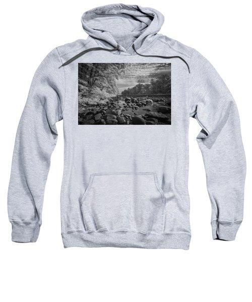 Clouds Over The River Rocks Sweatshirt