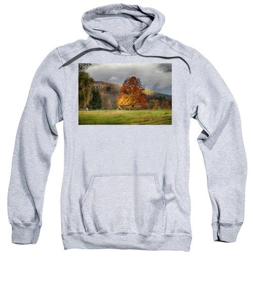 Clouds Part Over Marsh Billings-rockefeller Nhp Sweatshirt