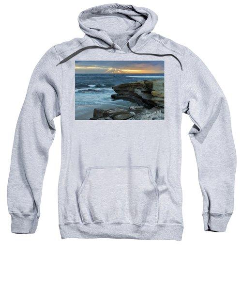 Cloudy Sunset At La Jolla Shores Beach Sweatshirt