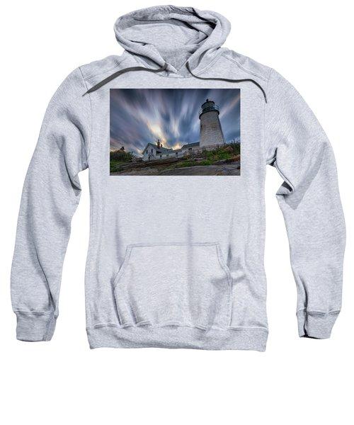 Cloudy Sunset At Pemaquid Point Sweatshirt