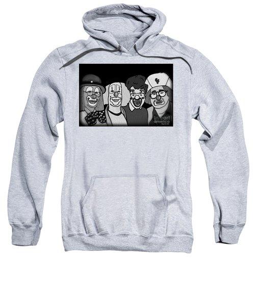 Clowns Bw Sweatshirt