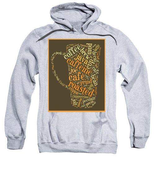 Coffee Lovers Word Cloud Sweatshirt