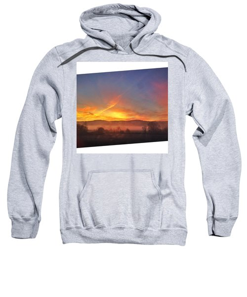#college #sunrise #slant #crop #sun Sweatshirt