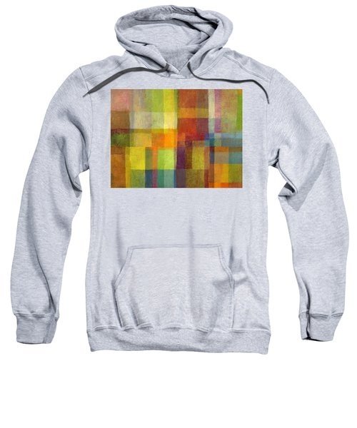 Color Collage With Green And Red 2.0 Sweatshirt by Michelle Calkins