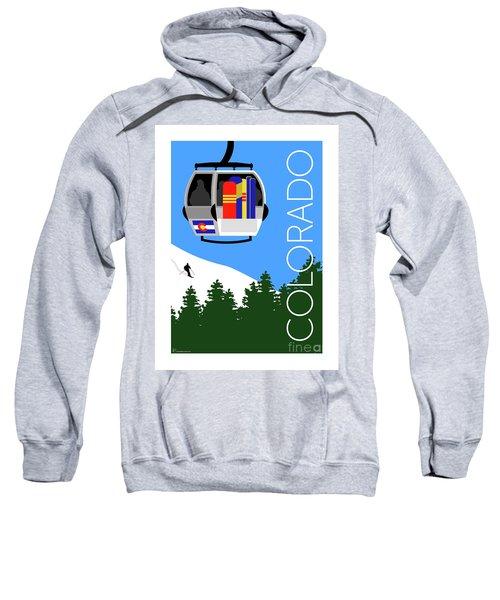 Sweatshirt featuring the digital art Colorado Ski Country Blue by Sam Brennan