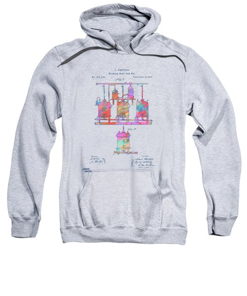 Colorful 1873 Brewing Beer And Ale Patent Artwork Sweatshirt