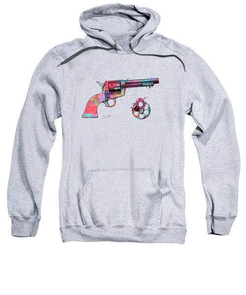 Colorful 1875 Colt Peacemaker Revolver Patent Minimal Sweatshirt