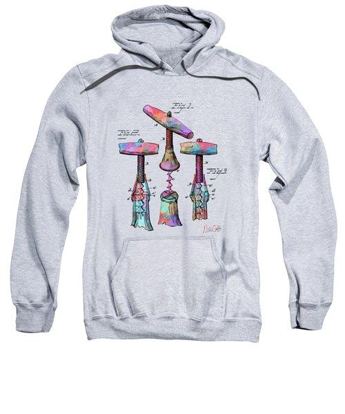 Colorful 1883 Wine Corckscrew Patent Sweatshirt
