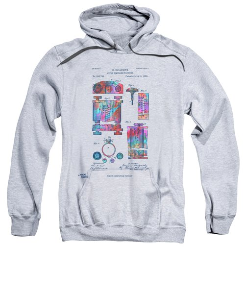 Colorful 1889 First Computer Patent Sweatshirt