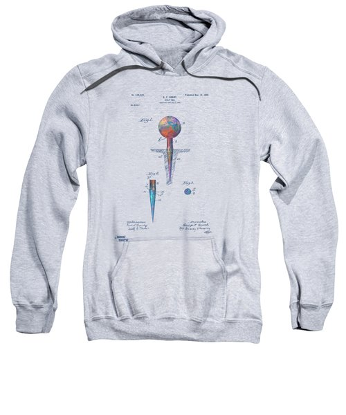Colorful 1899 Golf Tee Patent Sweatshirt
