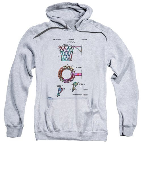 Colorful 1951 Basketball Net Patent Artwork Sweatshirt