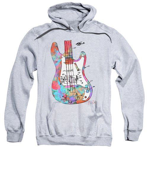 Colorful 1961 Fender Guitar Patent Sweatshirt
