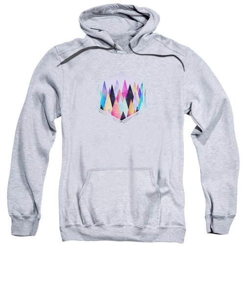 Colorful Abstract Geometric Triangle Peak Woods  Sweatshirt