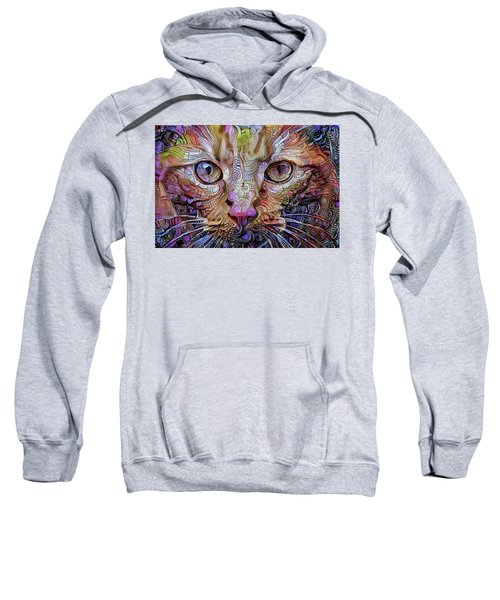 Colorful Cat Art Sweatshirt