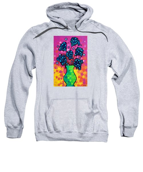 Colorful Flower Bouquet By Sharon Cummings Sweatshirt by Sharon Cummings