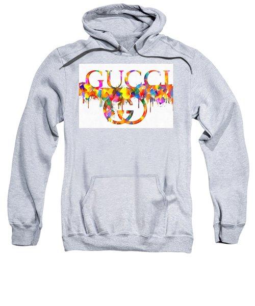 Colorful Gucci Paint Splatter Sweatshirt