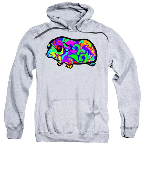 Colorful Guinea Pig Sweatshirt by Chris Butler