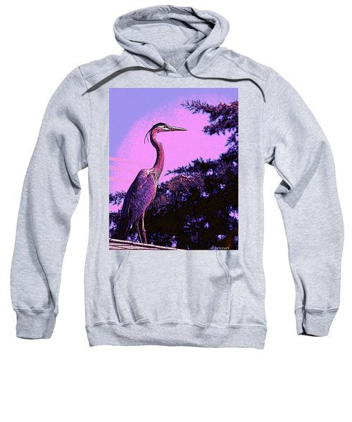 Colorful Heron Sweatshirt
