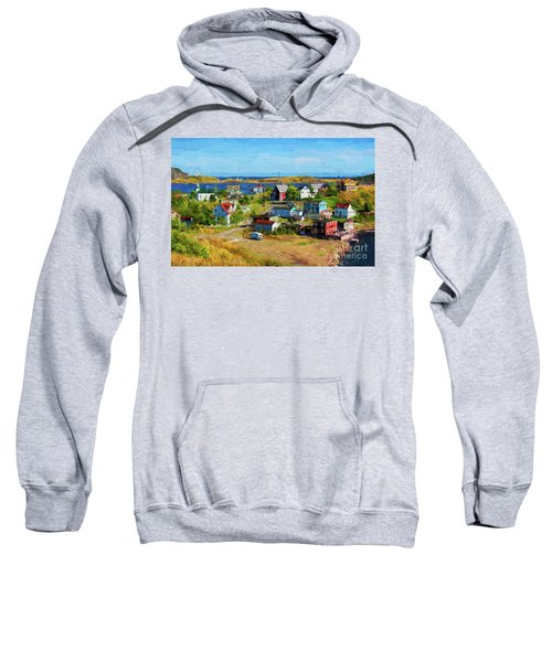 Colorful Homes In Trinity, Newfoundland - Painterly Sweatshirt