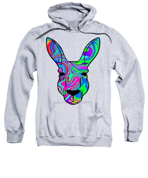 Colorful Kangaroo Sweatshirt by Chris Butler