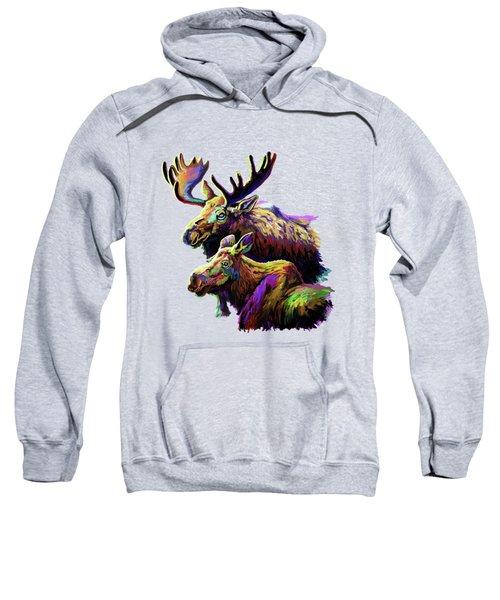 Colorful Moose Sweatshirt by Anthony Mwangi